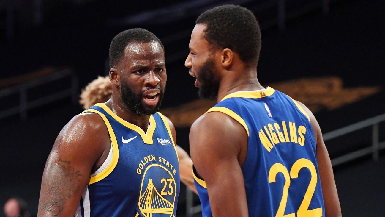 Draymond Green says he won't push Golden State Warriors teammate Andrew Wiggins to get COVID-19 vaccine