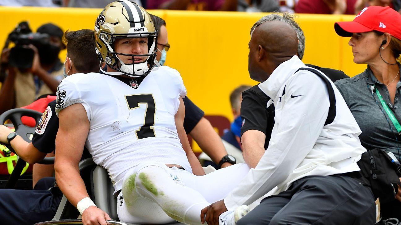 New Orleans Saints' Taysom Hill sustains concussion against Washington Football Team