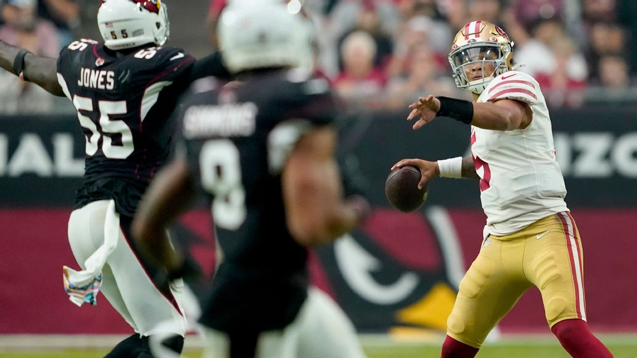 Trey Lance again sees 'some good, some bad' in first start for San Francisco 49ers, but QB job still Jimmy Garoppolo's