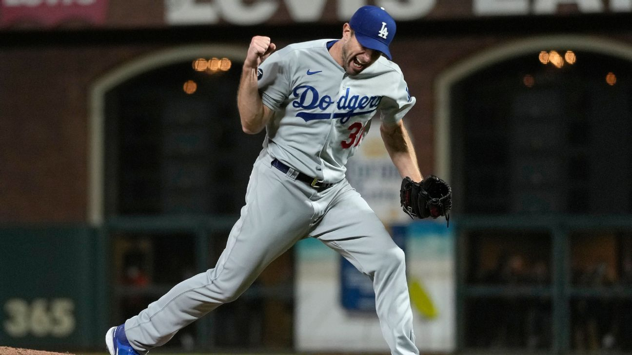 Max Scherzer, Los Angeles Dodgers finish off San Francisco Giants in Game 5 thriller to advance to NLCS