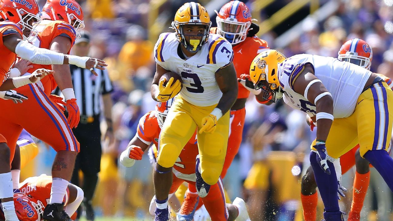 Tyrion Davis-Price rushes for LSU record 287 yards in win over Florida as Ed Orgeron says his team 'came to fight today'