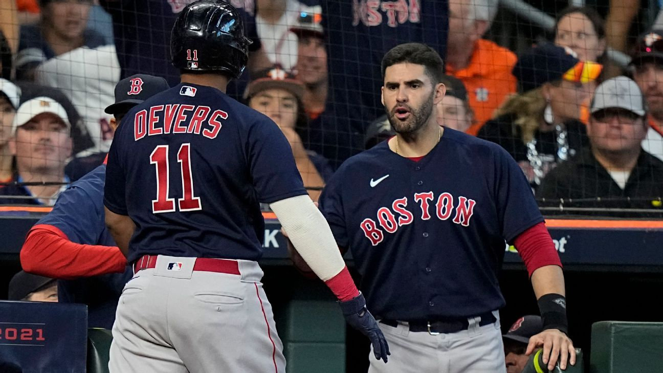 Boston Red Sox hit 2 grand slams in first 2 innings of ALCS Game 2; first team to do so in postseason
