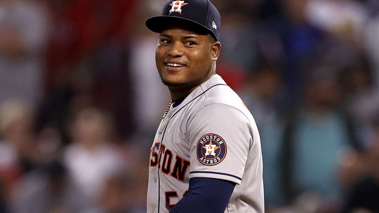 Framber Valdez, 'totally focused' after sluggish start to ALCS, carries Houston Astros to 3-2 lead