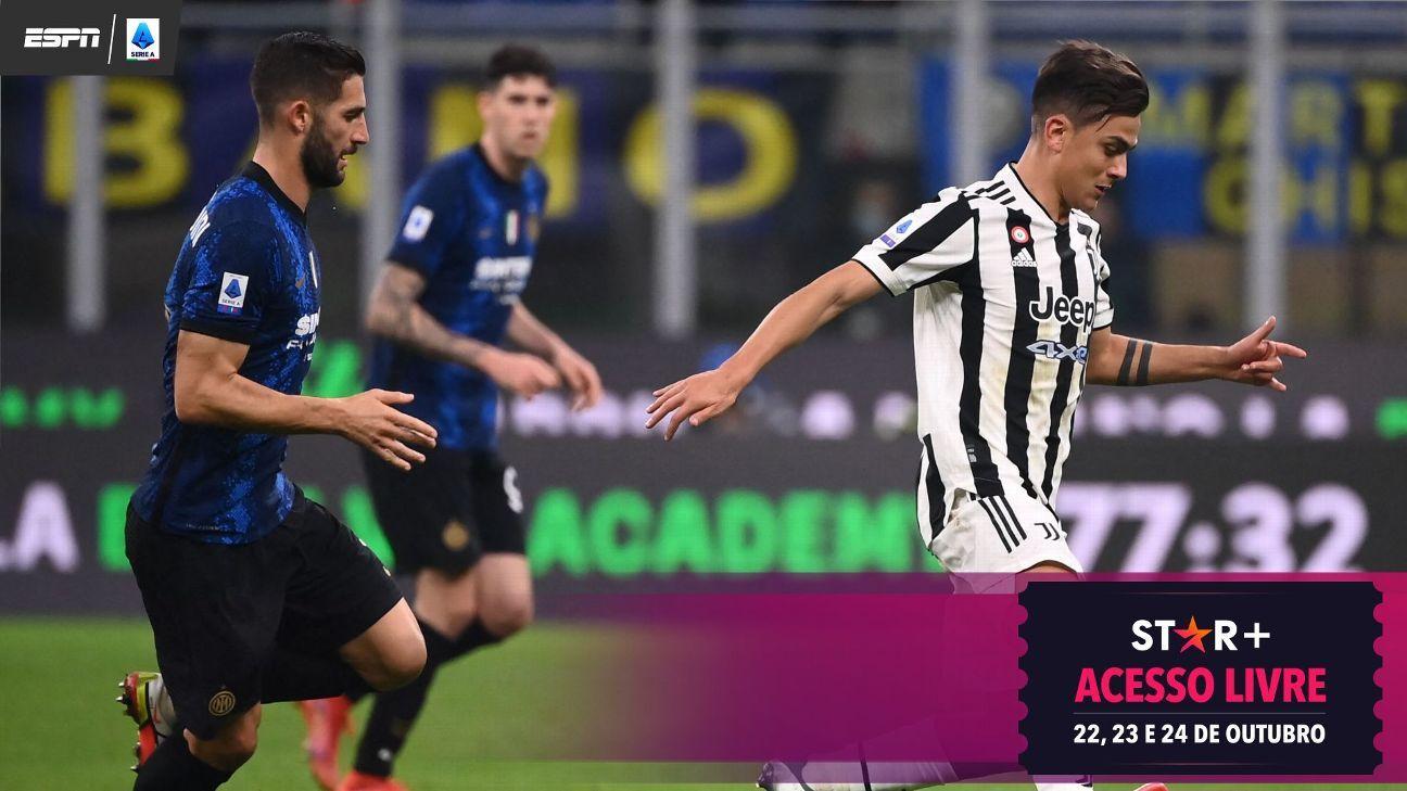 Dybala faz de pênalti no fim, e Juventus arranca empate com a Inter pelo clássico no Italiano