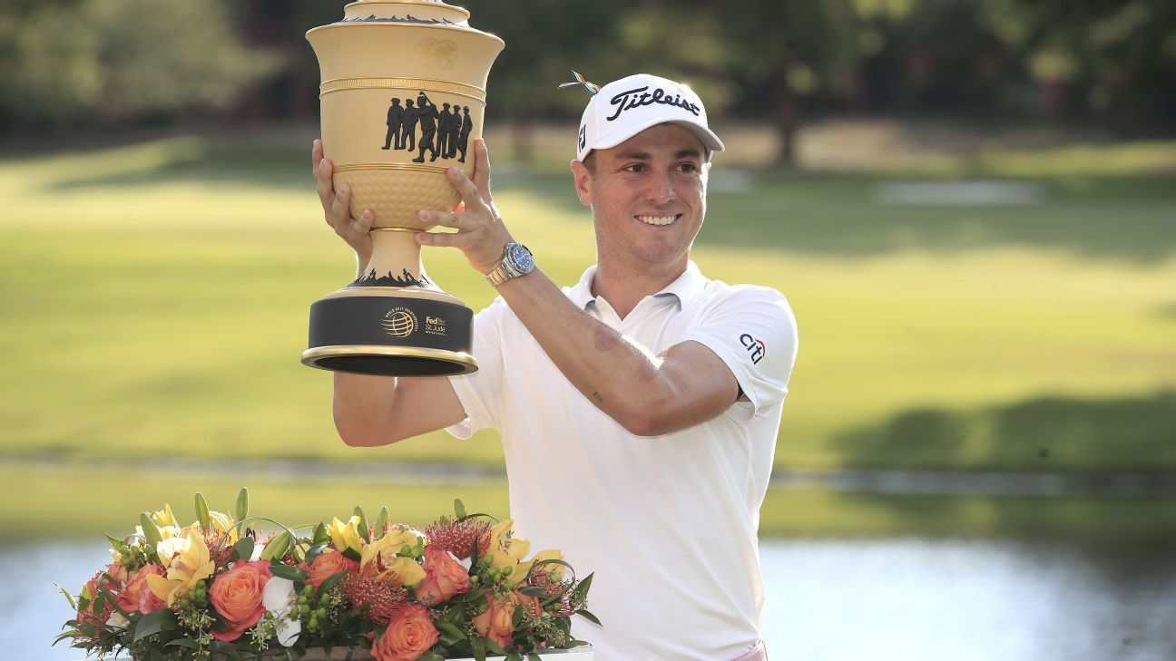 Thomas rallies to win WGC, move back to No. 1 | ESPN.com
