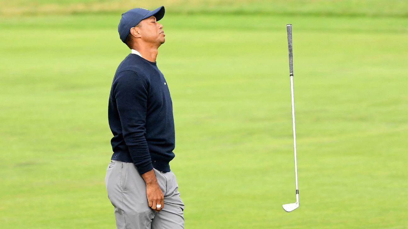 Bên trong ngày thất vọng hoàn toàn của Tiger Woods tại PGA Championship