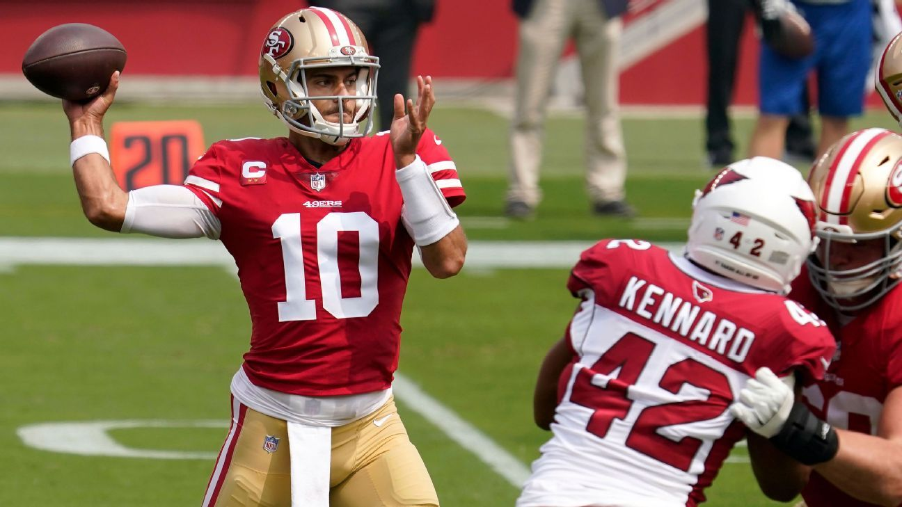 Garoppolo to make Niners return vs. Dolphins