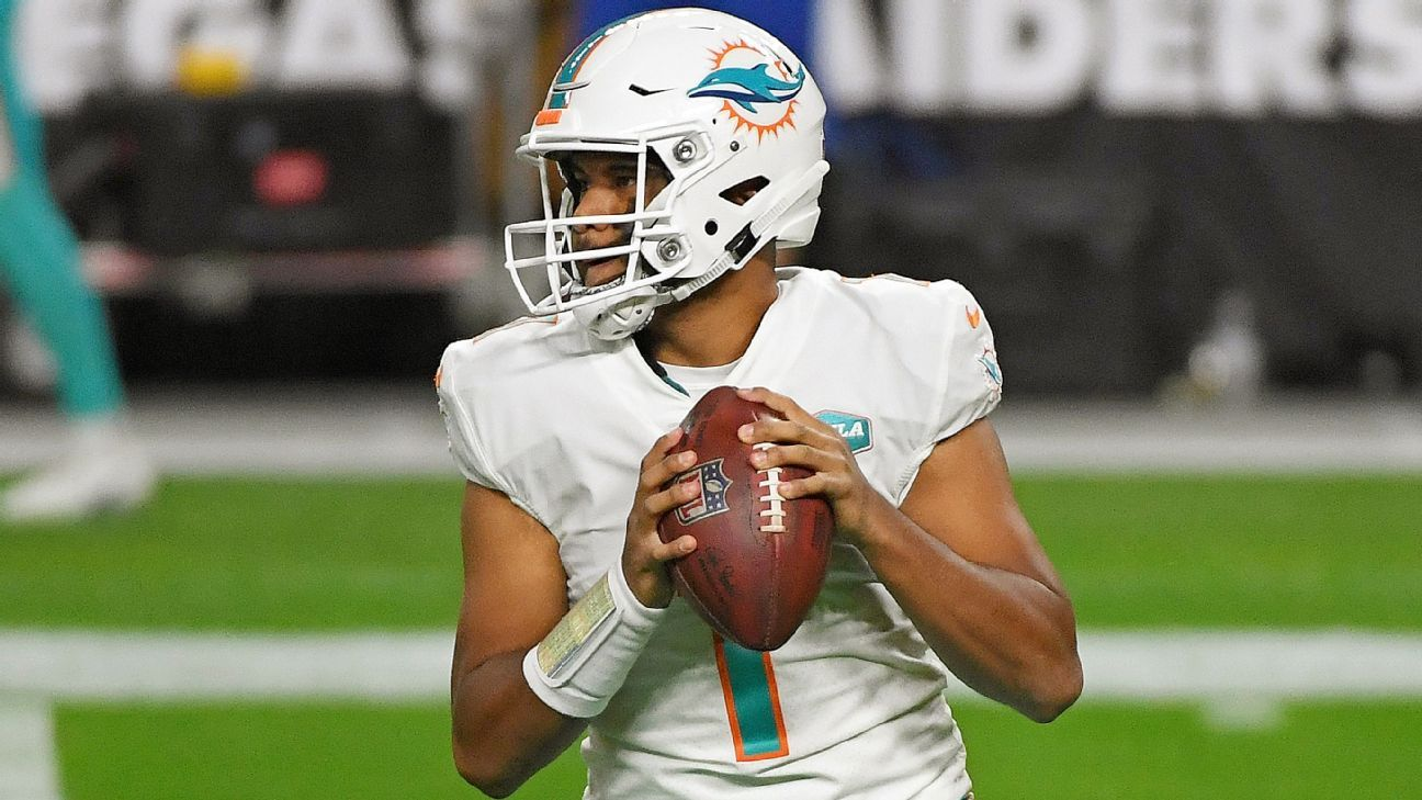 Miami Dolphins coach Brian Flores defends decision to stay with Tua Tagovailoa as QB