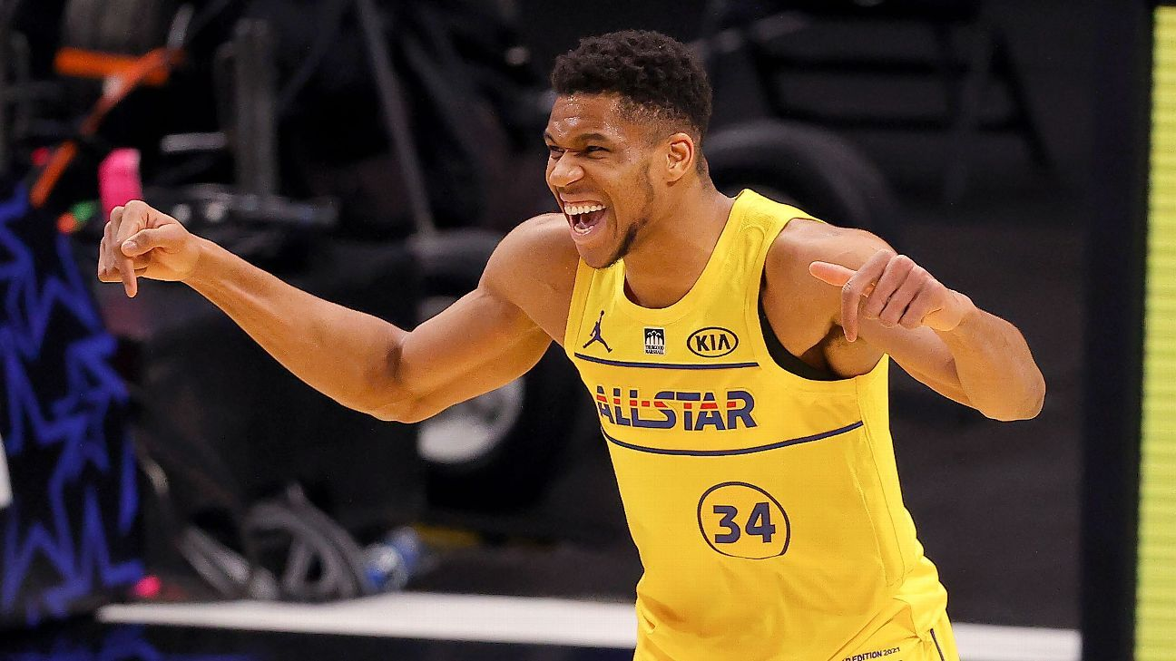 Giannis Antetokounmpo, Perfect in Team LeBron Victory, Wins NBA All-Star Game MVP
